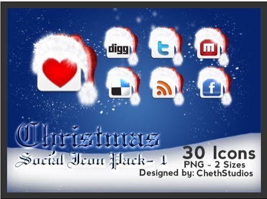 icones, redes sociais, natal, ano novo