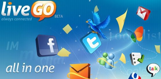livego, twitter, msn, facebook, web 2.0